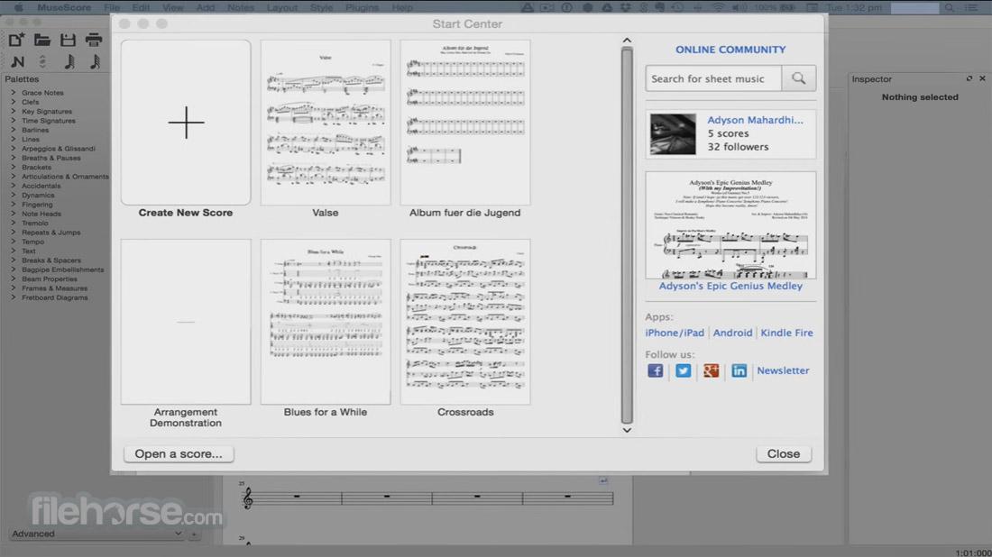 MuseScore 2.0.2 Captura de Pantalla 1
