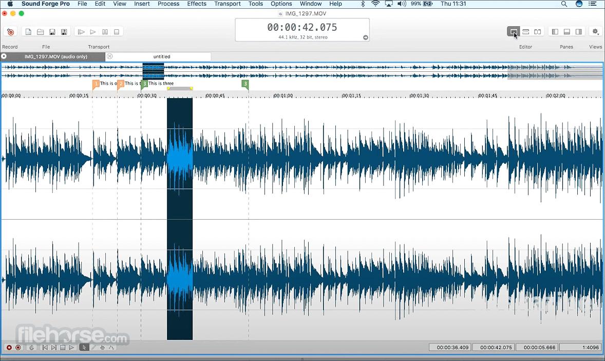 Sound Forge Pro 3.0 Captura de Pantalla 3