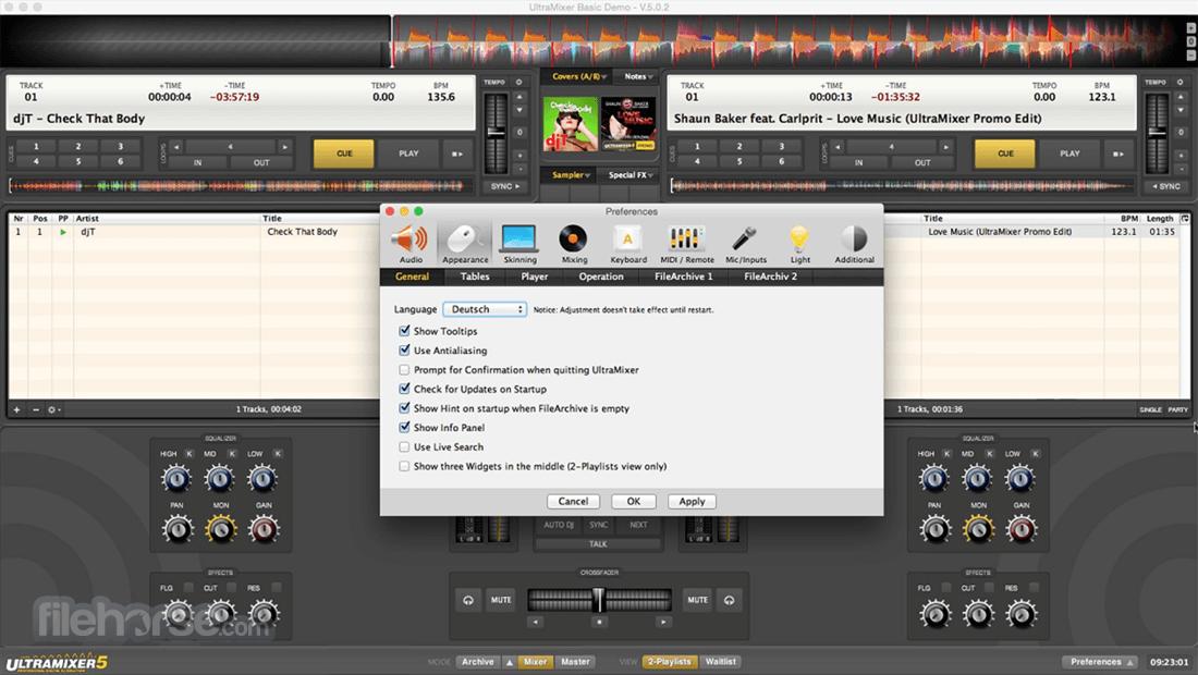 UltraMixer 6.2.8 Screenshot 1