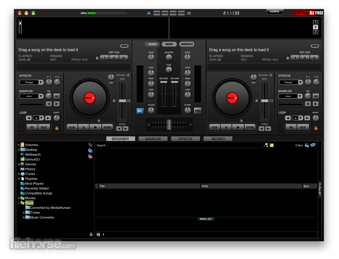Virtual DJ Free Home Edition 7.4 Screenshot 1