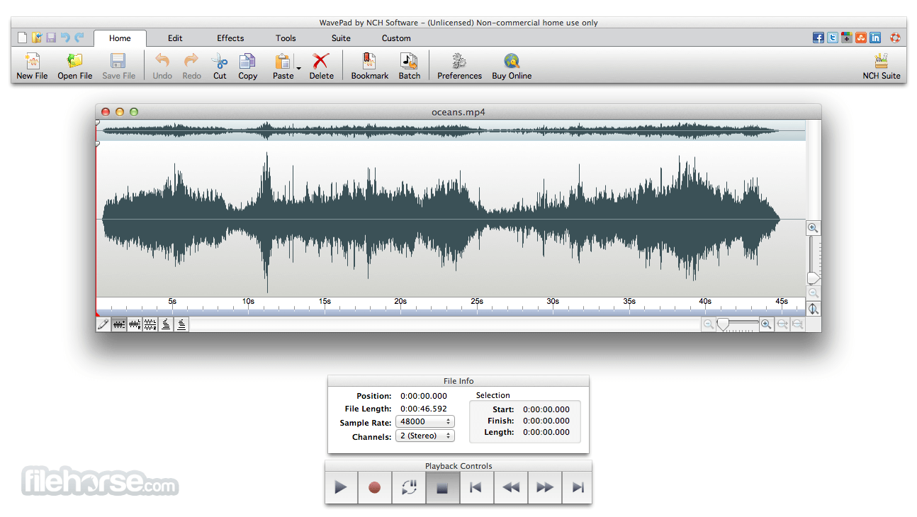 WavePad Sound Editor 6.64 Screenshot 1