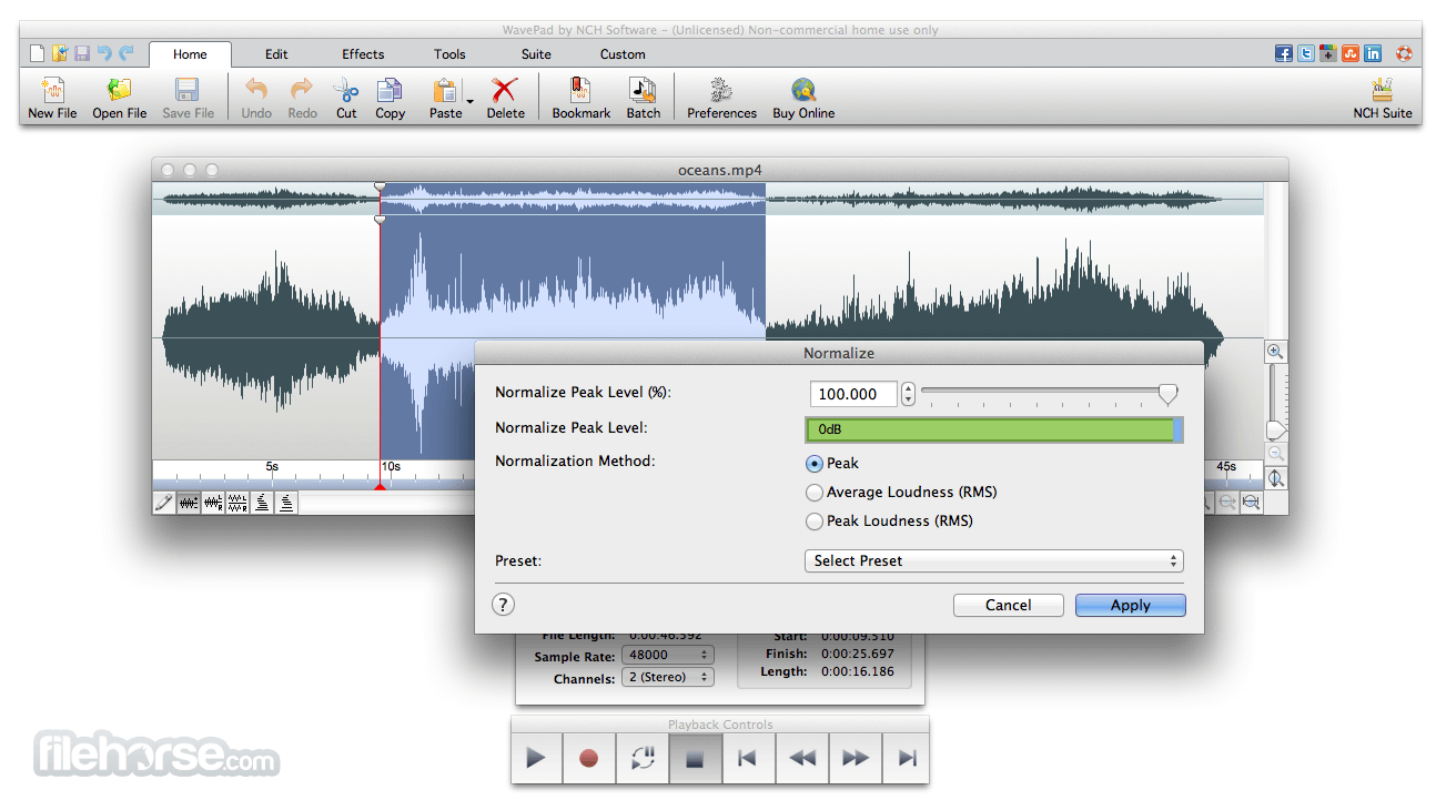 WavePad Sound Editor 6.64 Screenshot 2