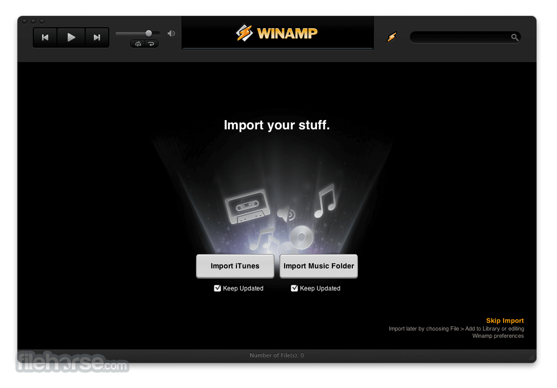 Winamp 0.7.2.53 Screenshot 1