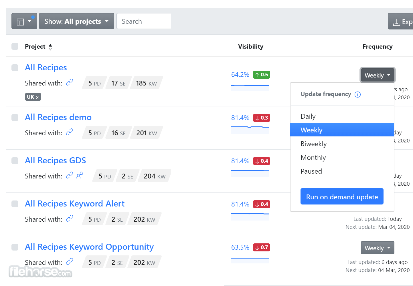Advanced Web Ranking Screenshot 1