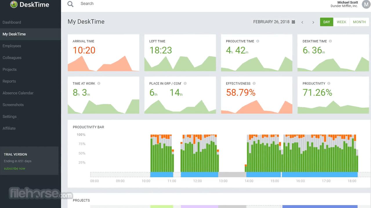 DeskTime 4.1.14 Screenshot 1