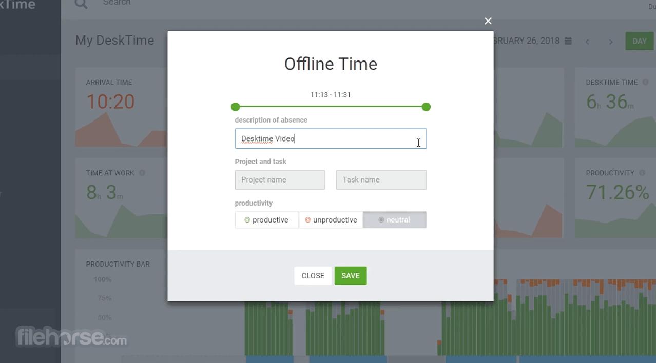 DeskTime 4.1.14 Screenshot 2