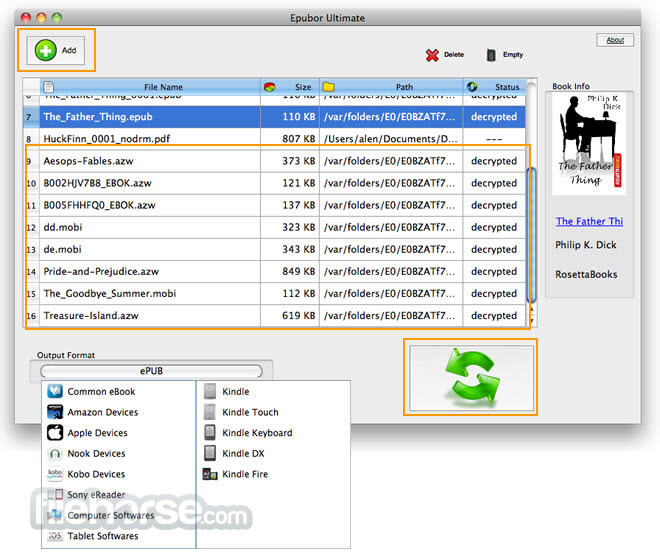Epubor Ultimate eBook Converter 3.0.12.207 Screenshot 1