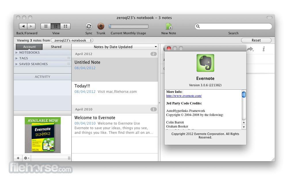 Evernote for Mac 6.11.1 Build 455059 Screenshot 3