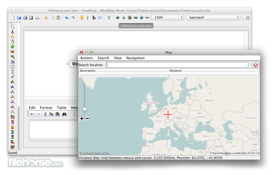FreeMind 0.9.0 Screenshot 3