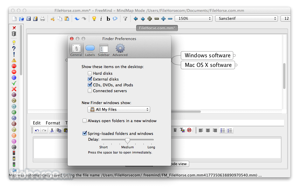 FreeMind 1.1.0 Beta 2 Screenshot 5