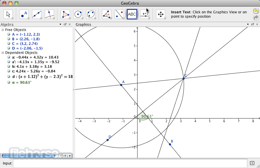 GeoGebra 5.0.137.0 Screenshot 1