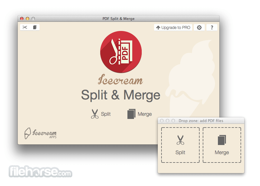 IceCream PDF Split & Merge 3.32 Screenshot 1