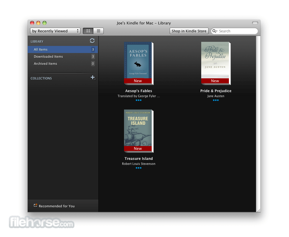 Kindle for Mac 1.12.0 Screenshot 1