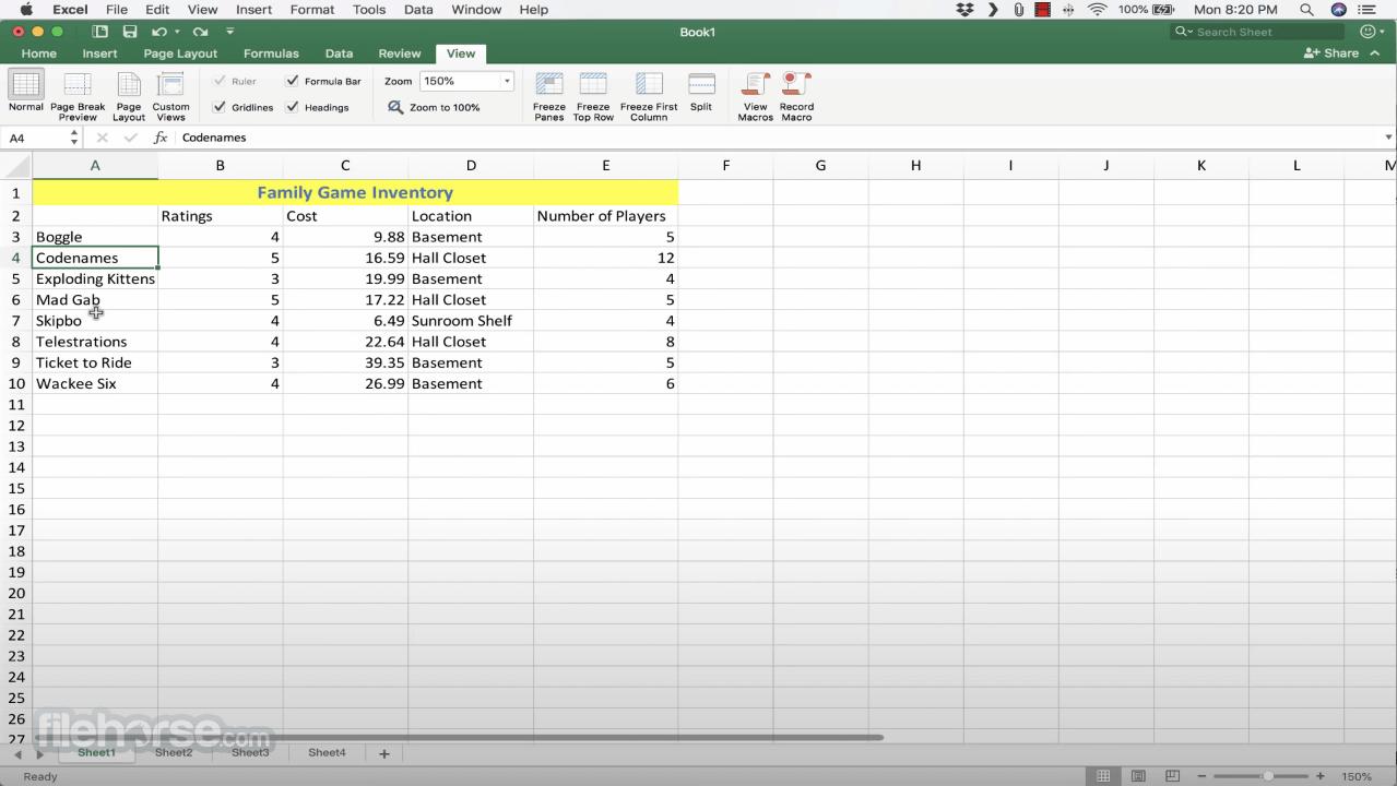 Microsoft Excel 16.35 Screenshot 4