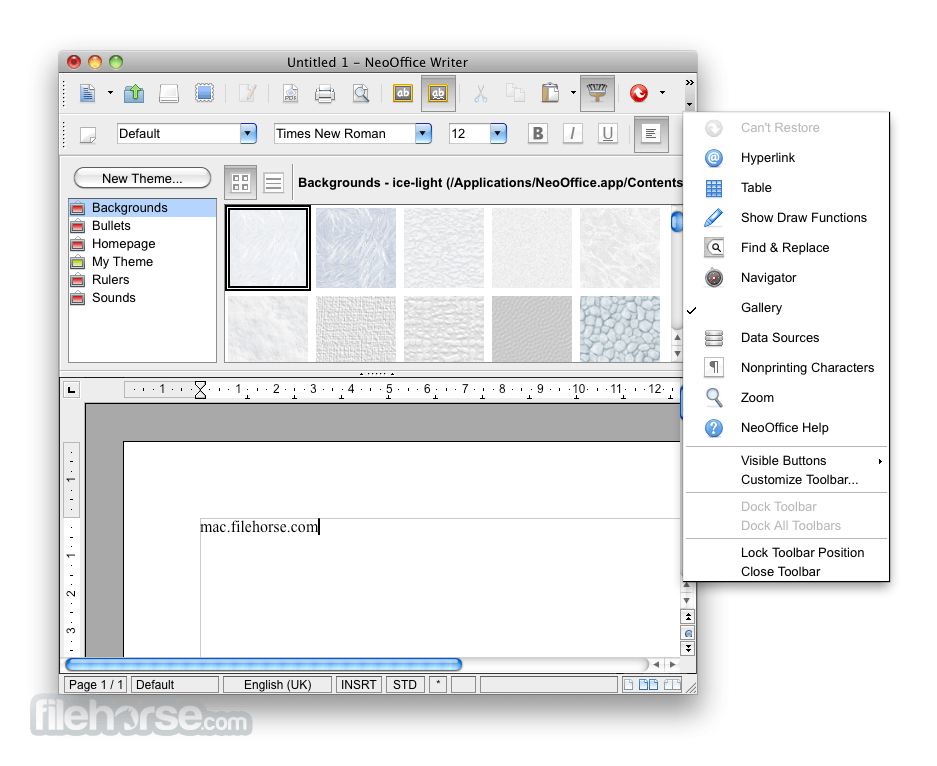 NeoOffice 3.1.1 Screenshot 5