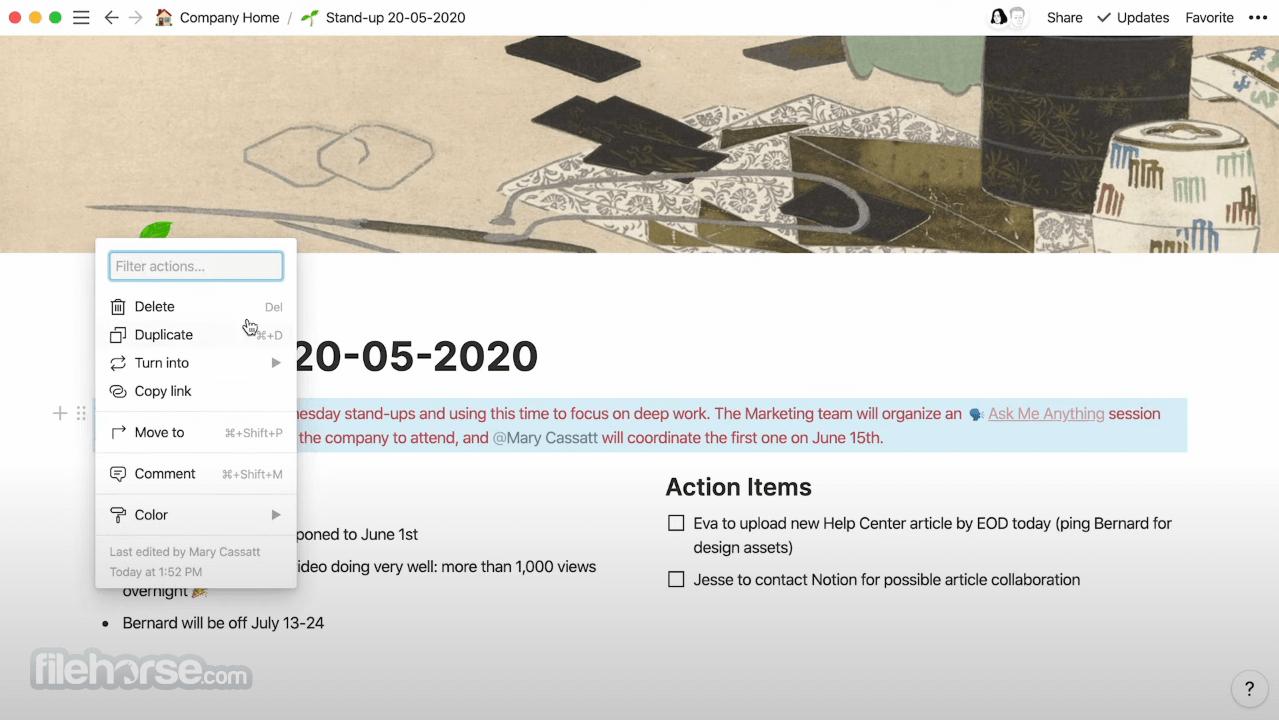 Notion 2.0.8 Screenshot 2