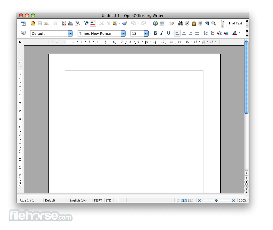 Apache OpenOffice 3.4.0 Screenshot 2