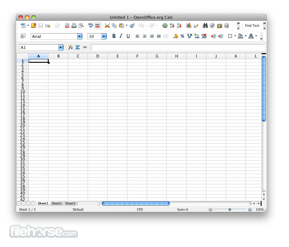 Apache OpenOffice 3.4.0 Screenshot 3