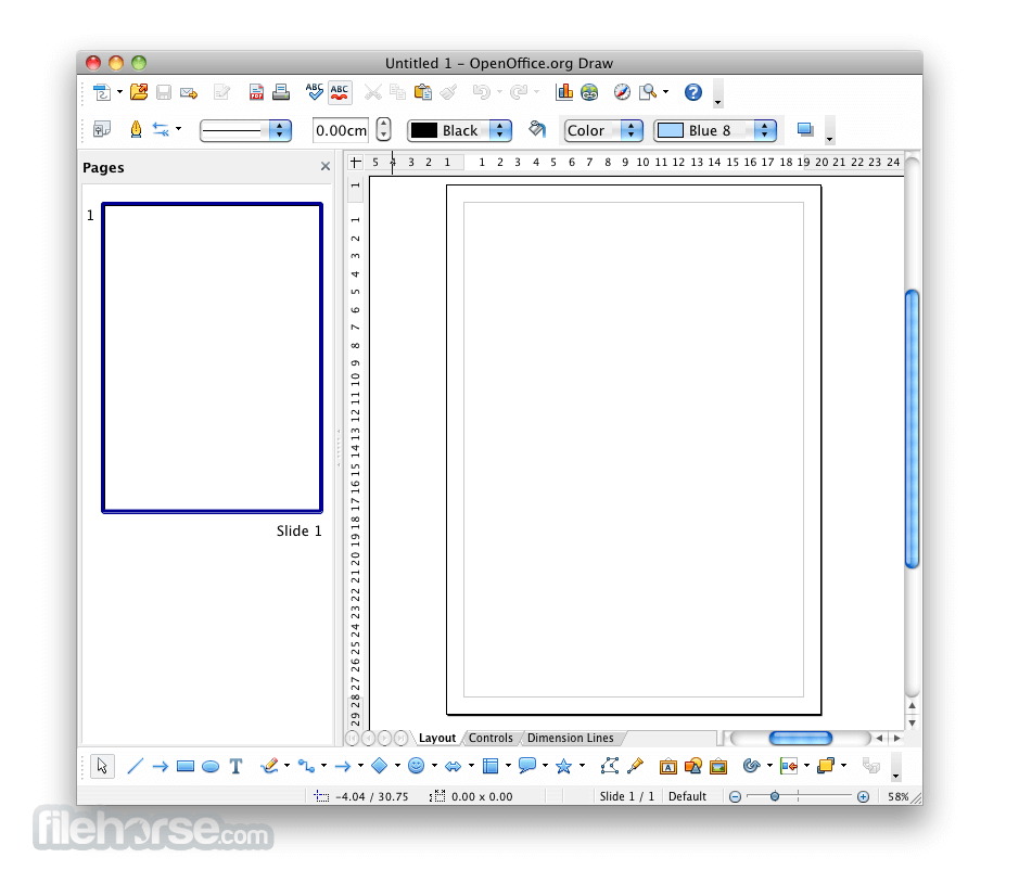 Apache OpenOffice 3.4.0 Screenshot 5