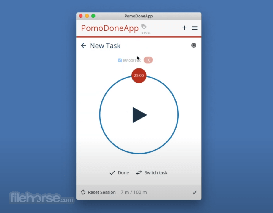 PomoDoneApp 1.5.1545 Screenshot 1