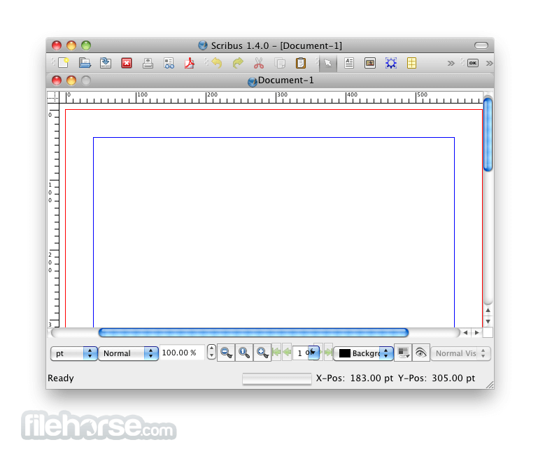 Scribus 1.4.6 Screenshot 1