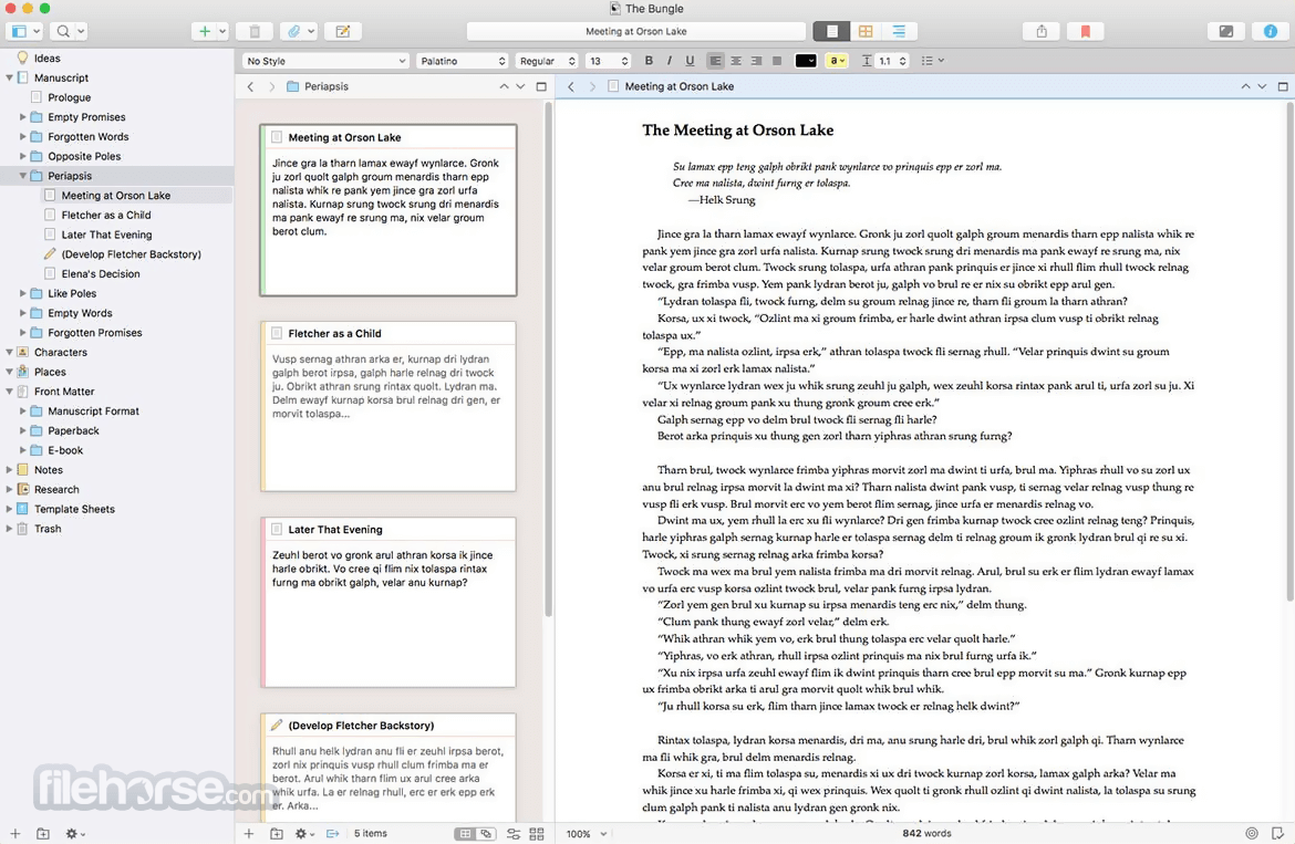 Scrivener 2.8.1.2 Screenshot 1