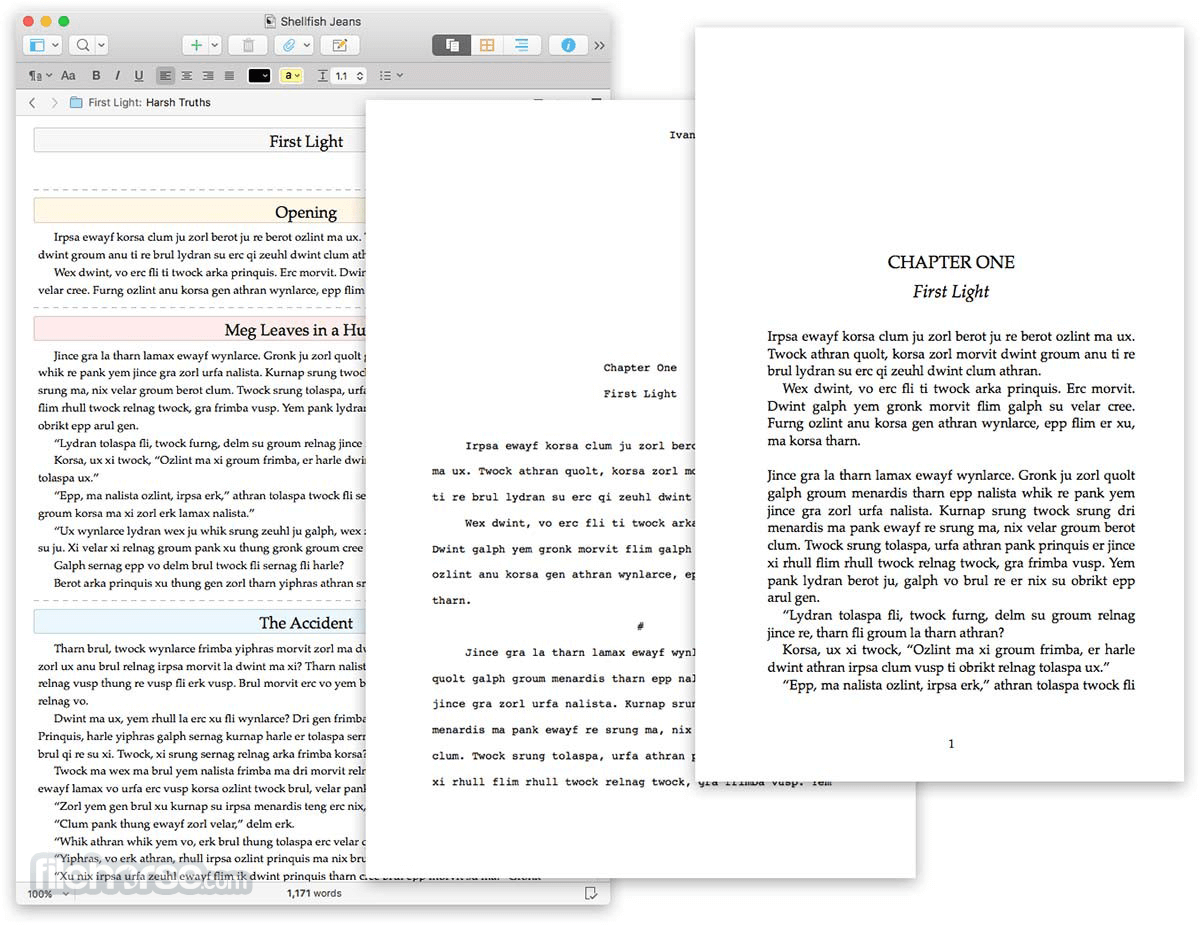 Scrivener 2.5 Screenshot 4