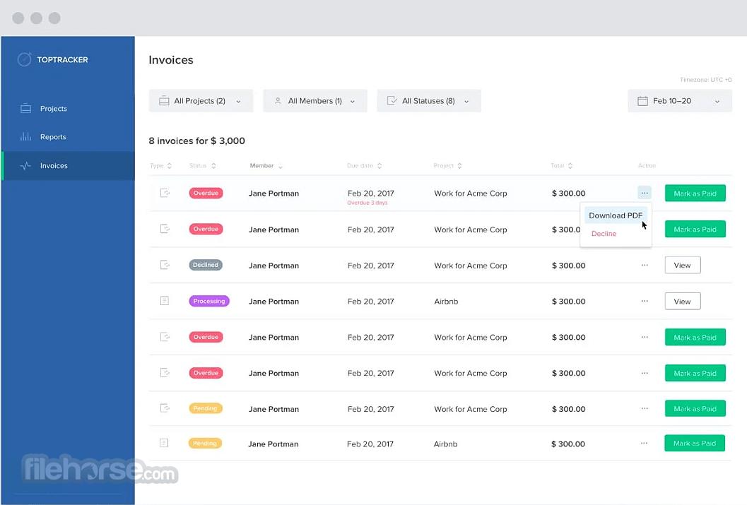 TopTracker 1.6.0.6502 Screenshot 1