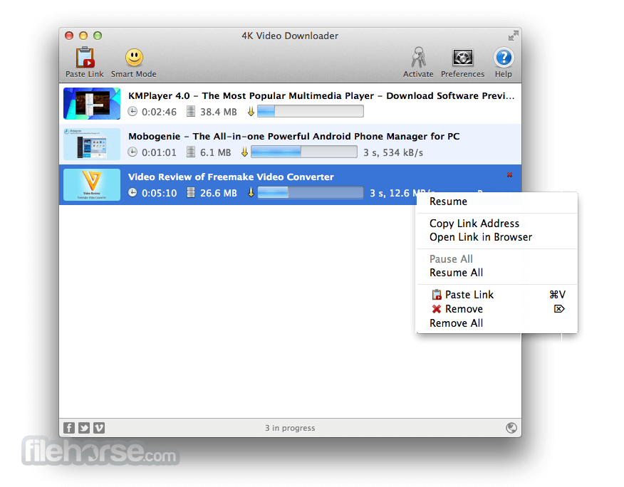 4K Video Downloader for Mac 3.0.2.1100 Captura de Pantalla 1