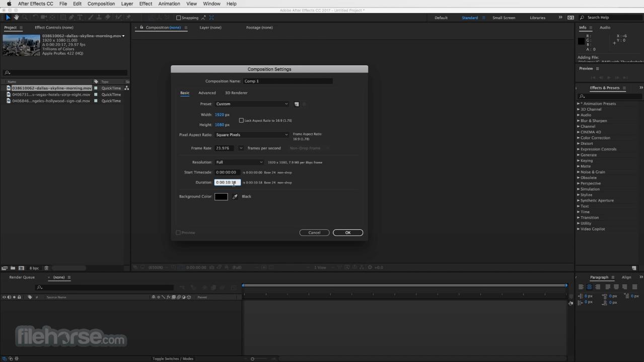 Adobe After Effects CC 2020 17.5 Screenshot 1