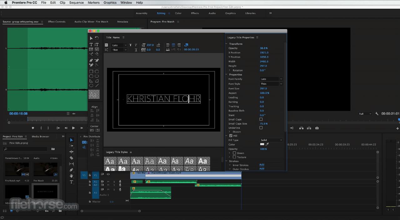 Adobe Premiere Pro CC 2020 14.6 Captura de Pantalla 5