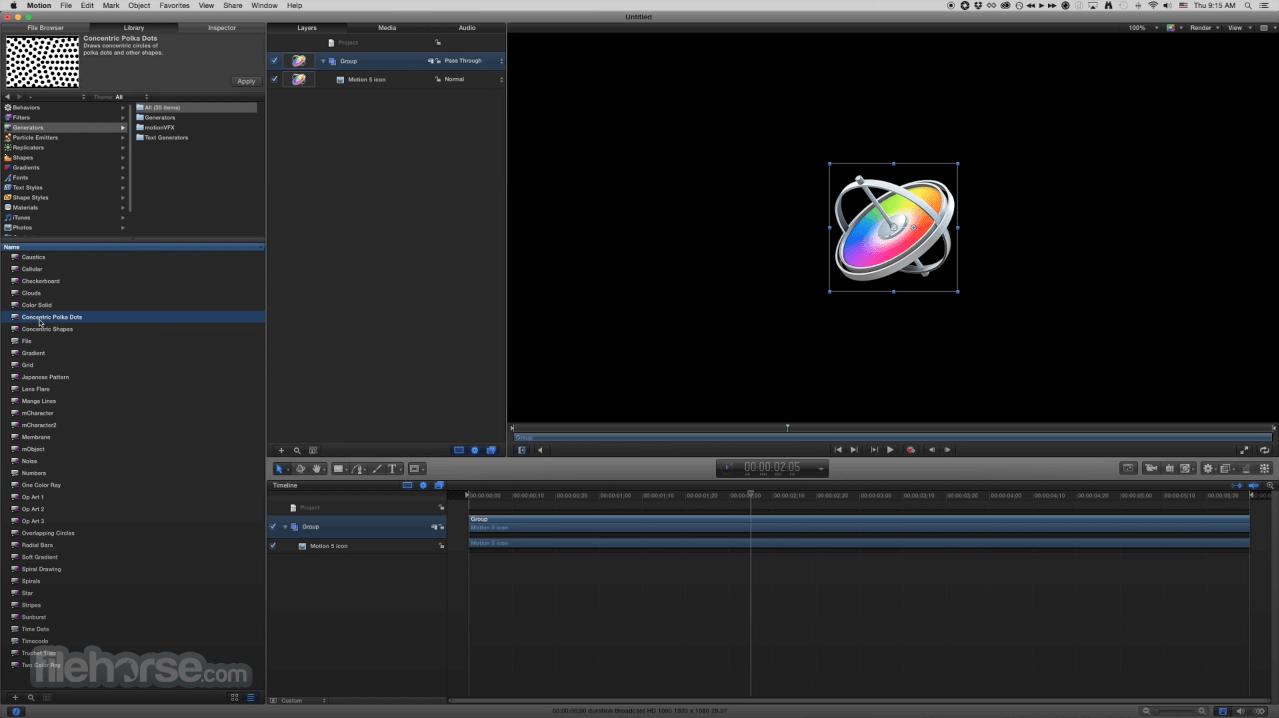 Apple Motion 5.4.5 Screenshot 1