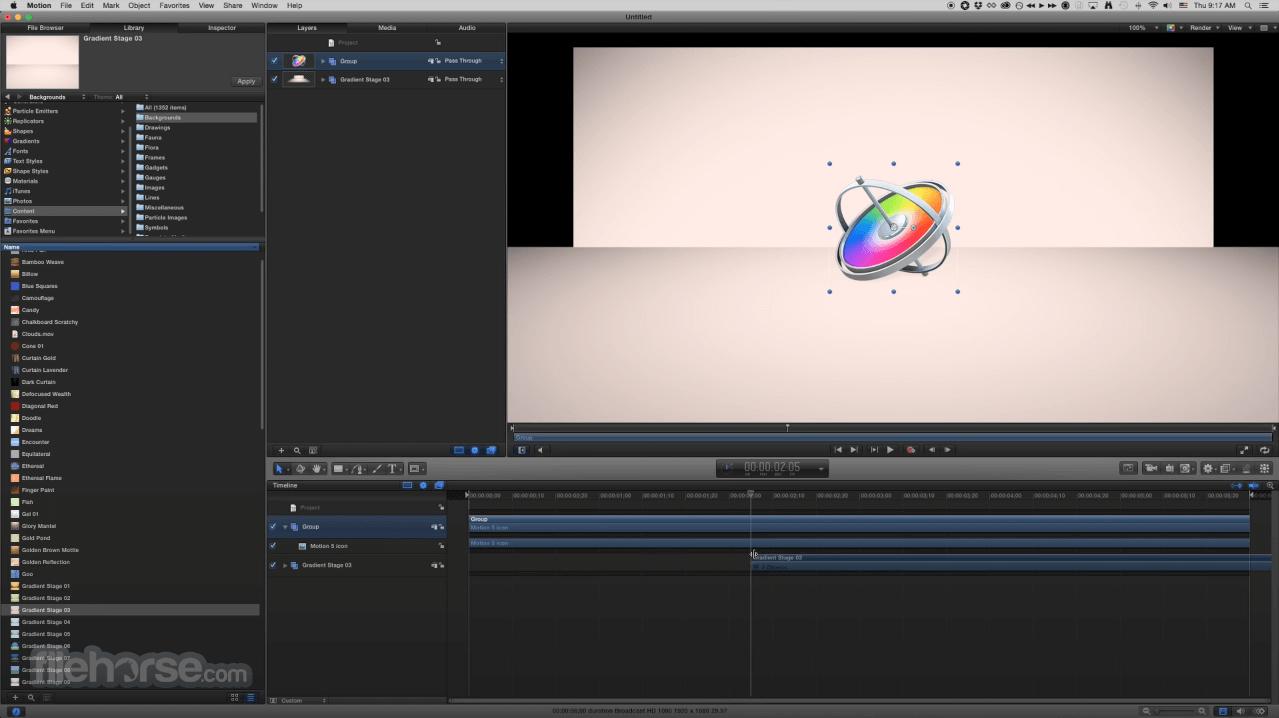 Apple Motion 5.4.5 Screenshot 2