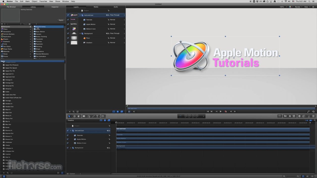 Apple Motion 5.4.5 Screenshot 3