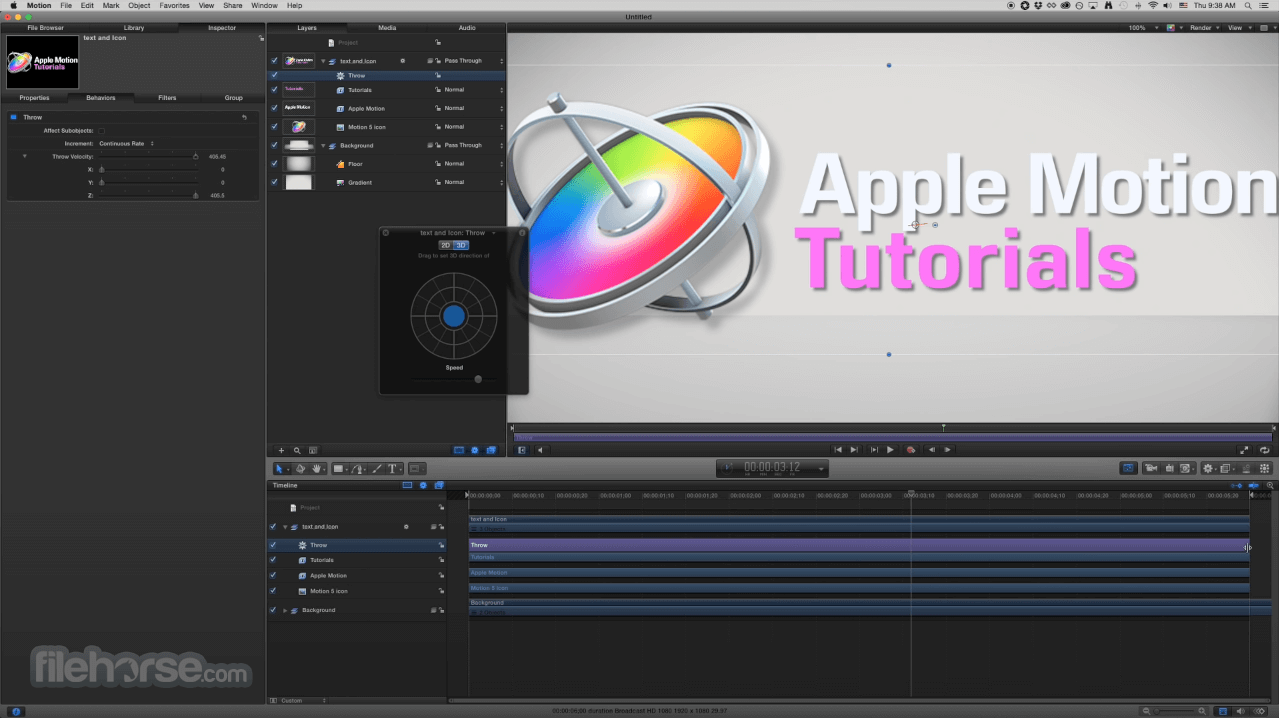 Apple Motion 5.4.5 Screenshot 4