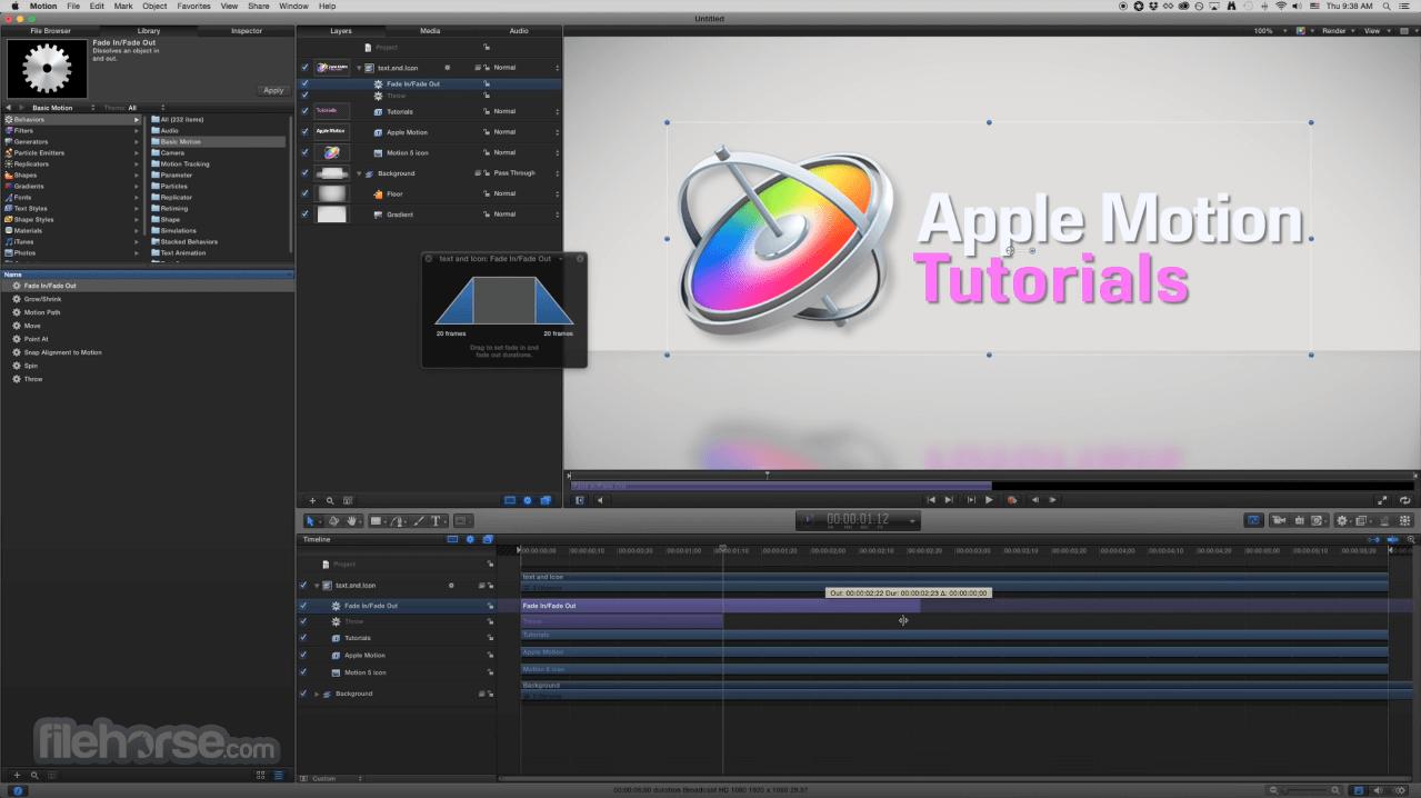 Apple Motion 5.4.5 Screenshot 5
