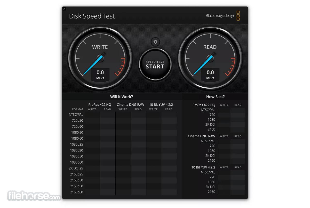 Blackmagic Disk Speed Test 3.3 Screenshot 1