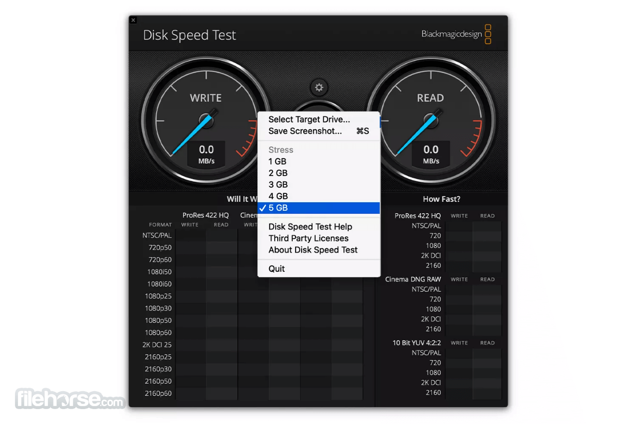 Blackmagic Disk Speed Test For Mac Download Free 2020 Latest
