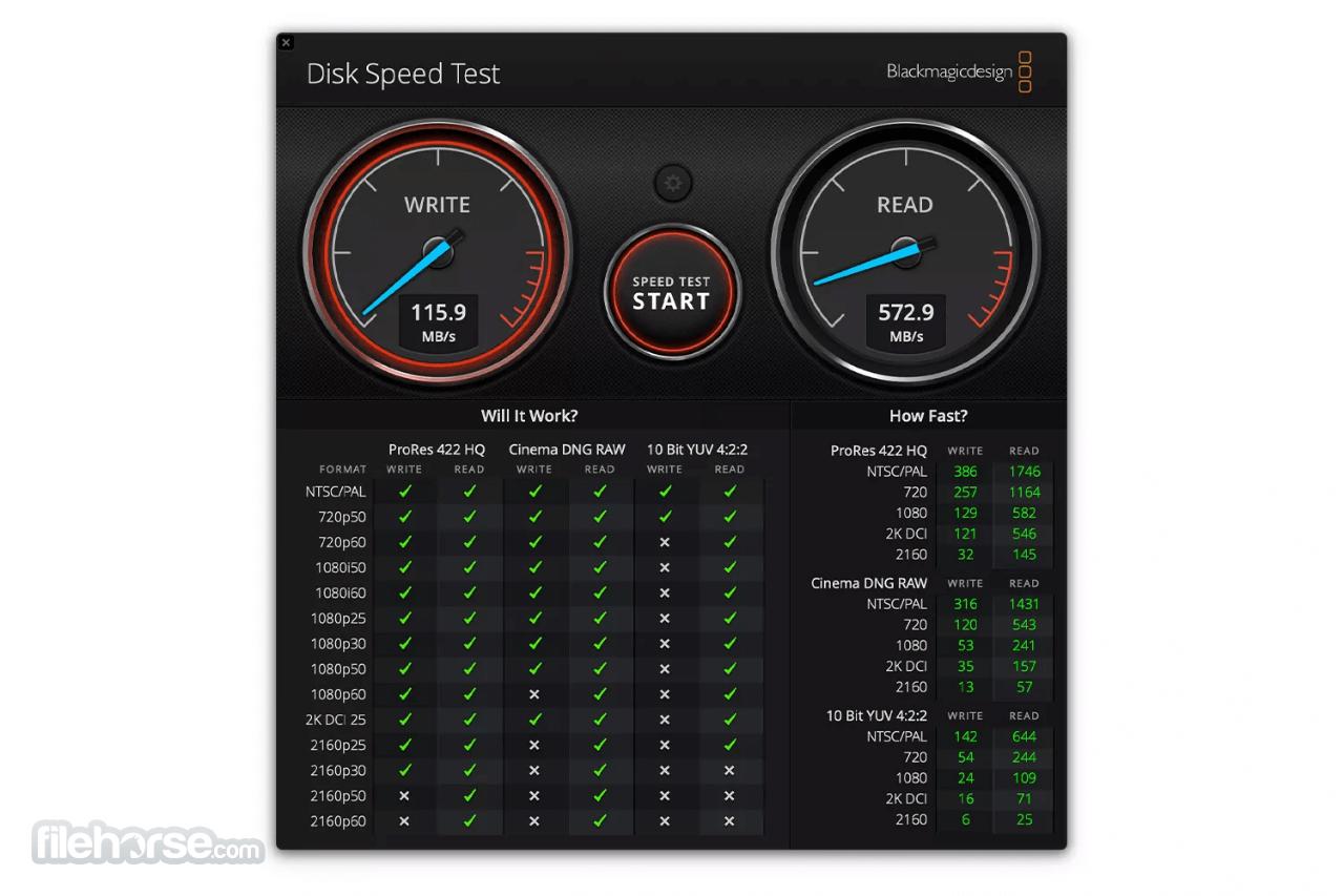 Blackmagic Disk Speed Test 3.3 Screenshot 3