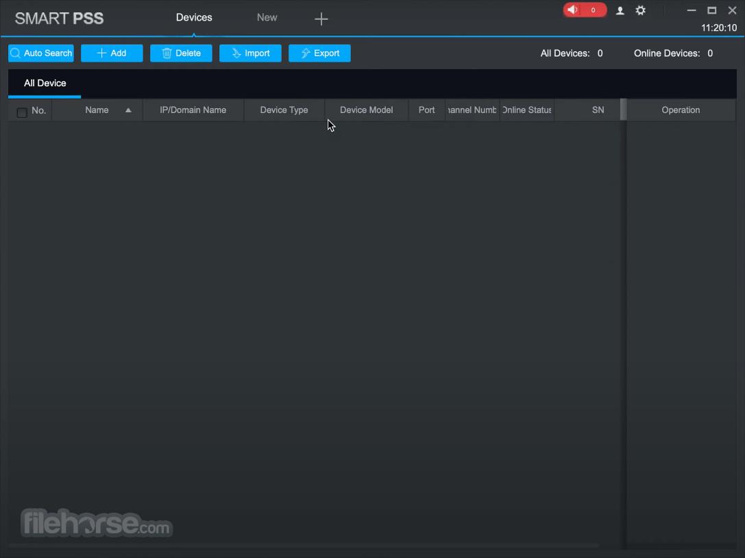 Dahua SmartPSS 2.03.0 Screenshot 1