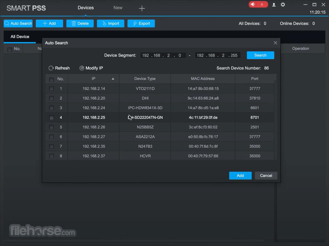 Dahua SmartPSS 2.03.0 Screenshot 2