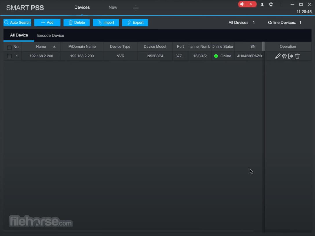 Dahua SmartPSS 2.03.0 Screenshot 3