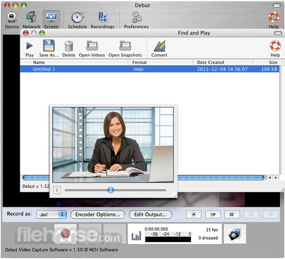 Debut Video Capture 4.10 Screenshot 3