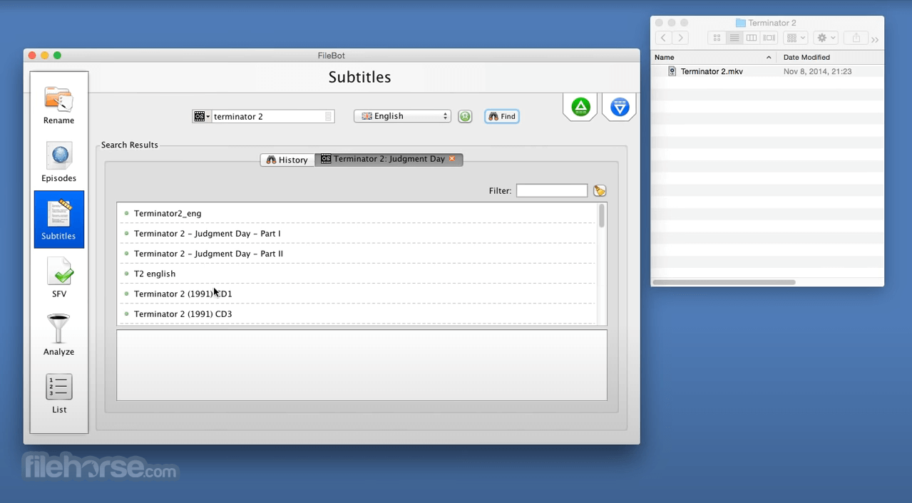 FileBot 4.9.2 Screenshot 3