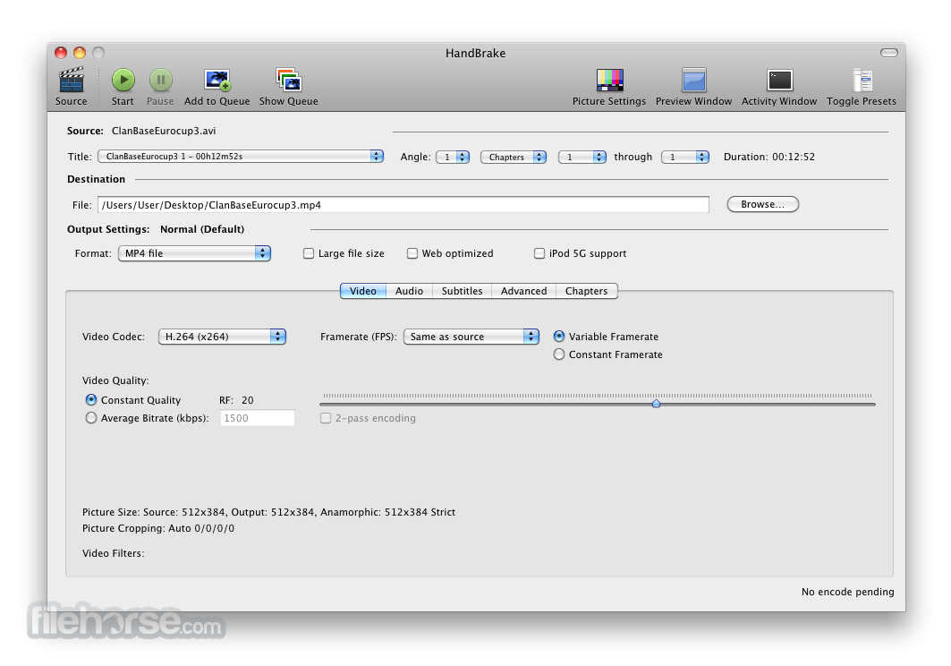 HandBrake 0.6.0 Screenshot 1