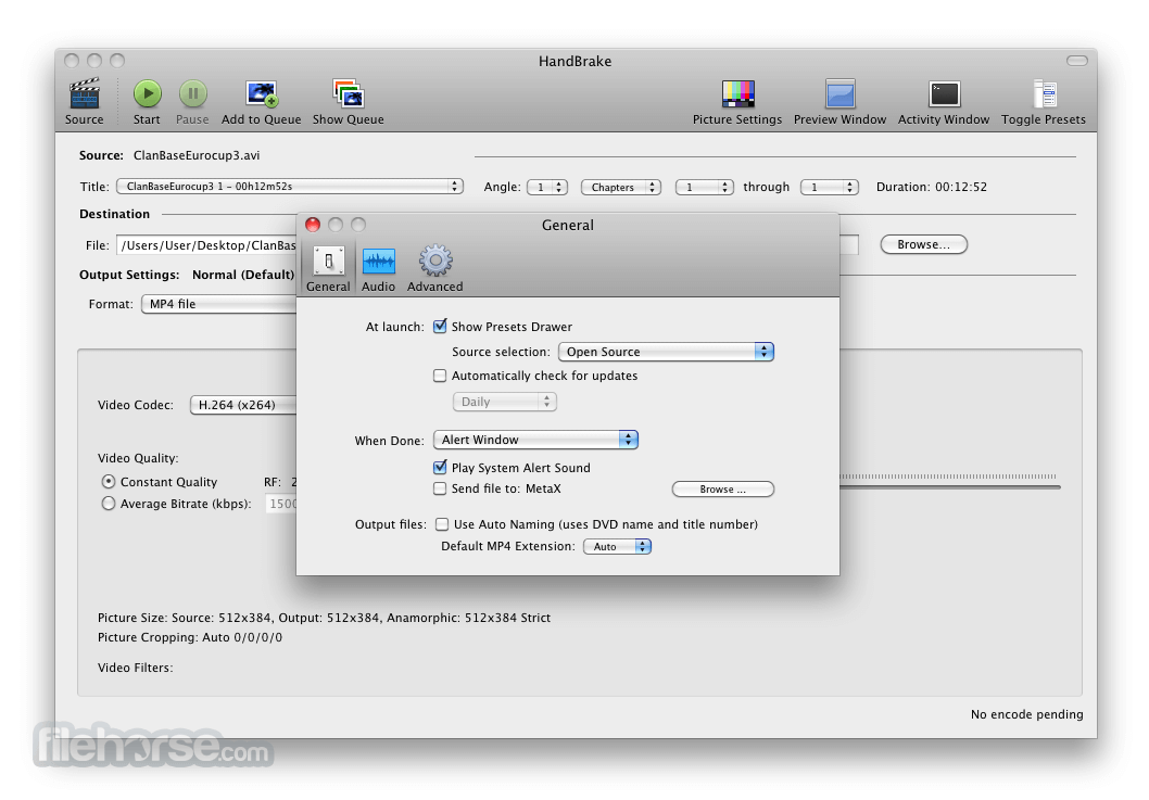 HandBrake 1.0.7 Screenshot 2