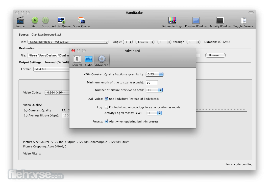 HandBrake 0.6.0 Screenshot 3