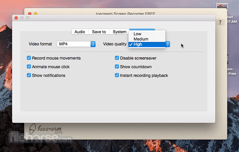 IceCream Screen Recorder 1.0.8 Screenshot 5