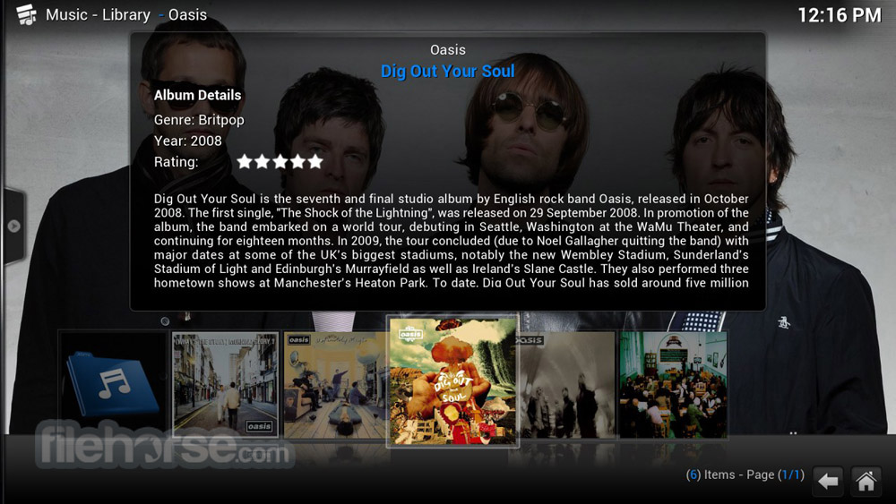 XBMC Media Center 12.3 Screenshot 1