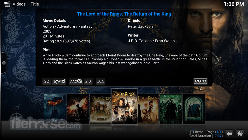 XBMC Media Center 12.3 Screenshot 2